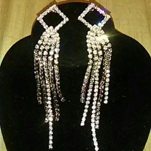 Jewelry - Elegant Rhinestone Pageant Earrings